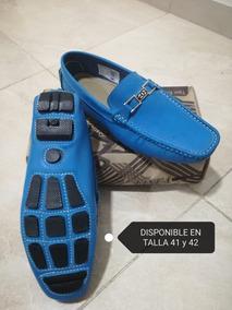Zapatos Mocasin Color Azul