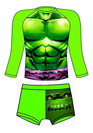 Traje De Baño Proteccion Uv Hulk
