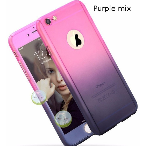 Estuche Full Protector 360 Case iPhone 5 iPhone SE + Cristal