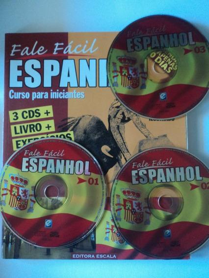 Livro:curso Para Iniciantes:fale Fácil Espanhol+3cds