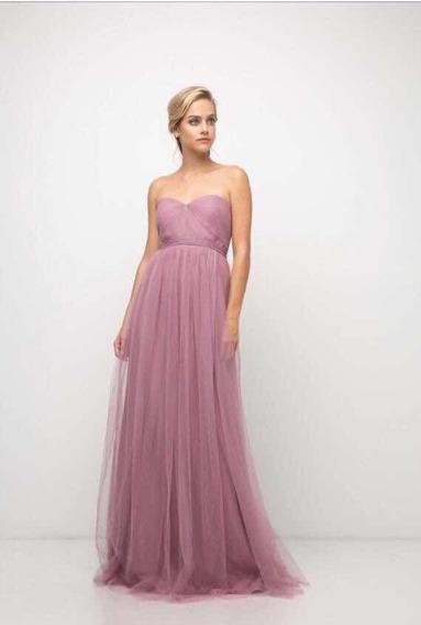 Vestido En Transformable. Color Orquidea Talla 12
