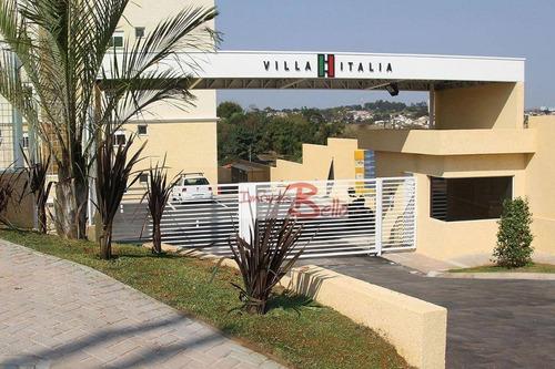 Apartamento Com 2 Dormitórios À Venda, 59 M² Por R$ 220.000 - Condomínio Villa Itália - Itatiba/sp - Ap0506
