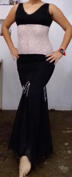 Vestido Danza Árabe Negro Y Blanco (usado)