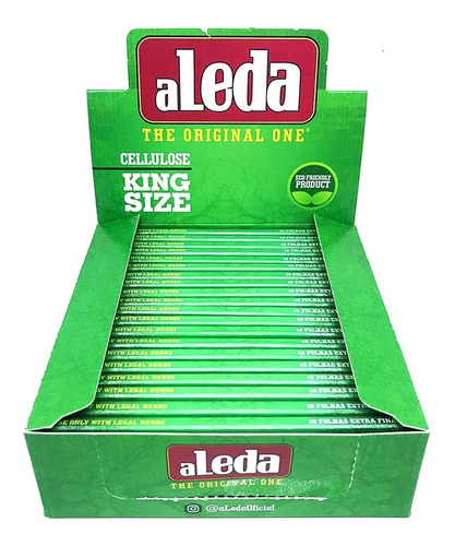 Seda Aleda Celulose Verde Grande Transparente Fechada C/ 20