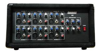 Consola 7 Canales Potenciada 300w Efectos Ecualizador