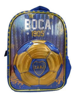 Mochila Espalda Boca 12 Futbol Jardin Bo005 Cuerpos Didacti