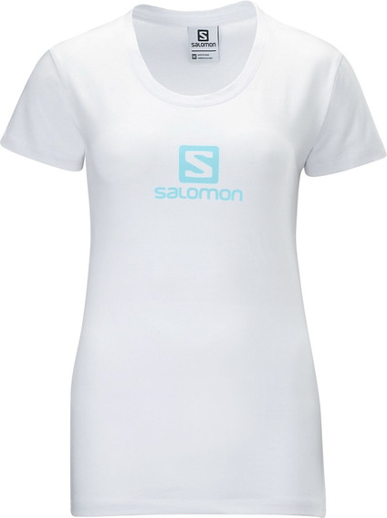 Polo Femenino Salomon - Poly Logo Tee W Blanco - Hiking