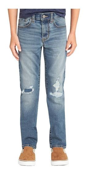 Jeans Niños Pantalón Mezclilla Ajustable Flex Slim Old Navy