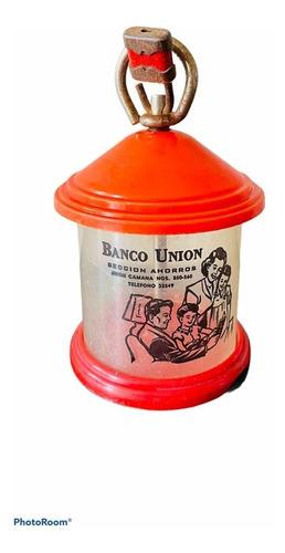 Imagen 1 de 7 de Yh Antigua Alcancia Del Banco Union Lima Retro Vintage Adorn