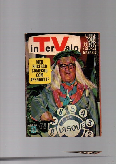 Revista Tv Intervalo Lote Com 6 Revistas Segue A Discrição