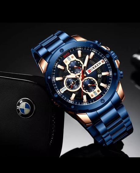 Relógio Masculino Curren Silc 8337 (com Caixa)