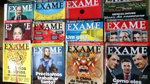 Revista Exame Ano 2012 Lote 18 Unidades
