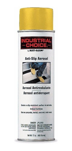 Imagen 1 de 6 de Antiderrapante Aerosol Amarillo Seguridad Cinta Pisos Desliz