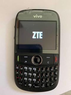 Celular Zte - E821s - Qwert - 1chip - Câmera - Sdcard -preto