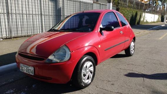 Ford Ka Gl 2002 Gasolina 1.0 2 P Básico Vermelho 137.000 Km
