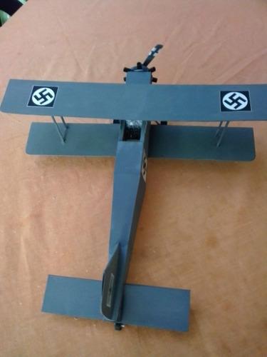 Imagen 1 de 6 de Avion Biplano 2da Guerra Mundial  De Colección Hecho A Mano