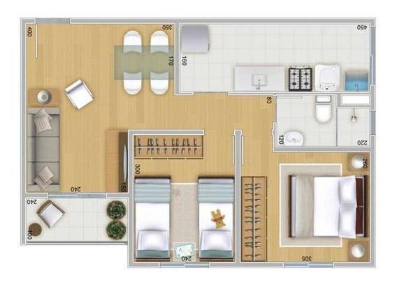 Apartamento Para Venda Em Ferraz De Vasconcelos, Jardim São Miguel, 2 Dormitórios, 1 Banheiro, 1 Vaga - Pq. Dos S_1-986459