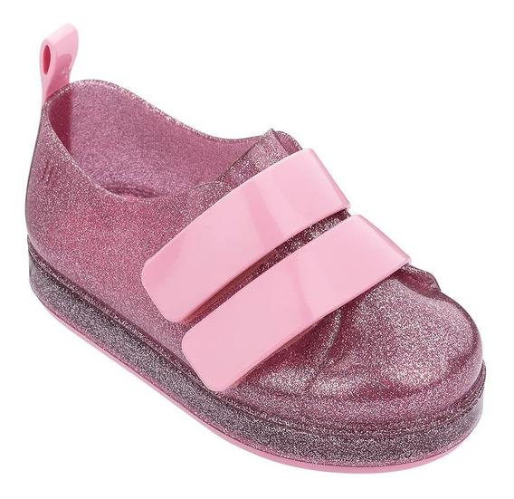 Mini Melissa Tênis Go Sneaker Rosa Glitter - 32696