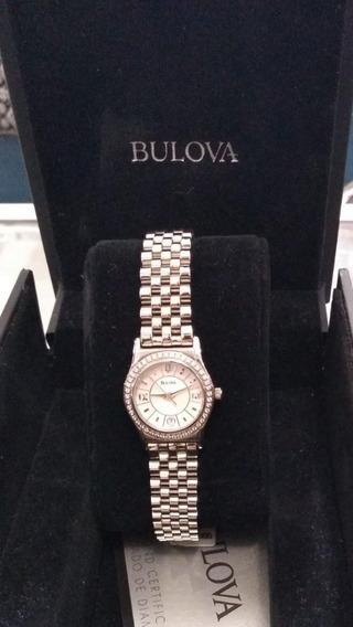 Relógio Bulova Wb28199s Prata Original