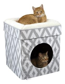 Kitty City - Cama Grande Para Gatos, Cubo,condos Desplegable