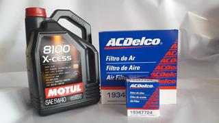 Cambio O Envío 2 Filtros (aceite Y Aire) + Motul 8100 5w40 X5l Vw Gol Trend - Suran - Fox- Voyage (