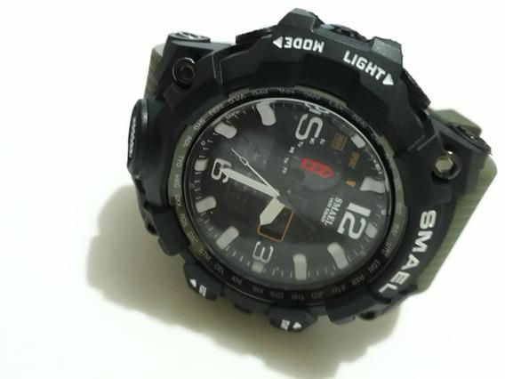Relógio 1545 Smael Masculino Black Esportivo Militar Shock