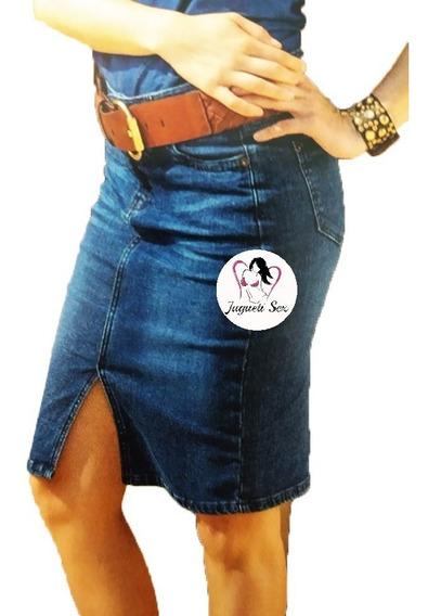 Falda Mezclilla Apertura Recta Sexymoda Coreana Mod.r257