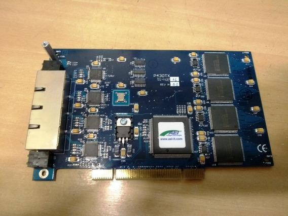 Placa P430tx Pci 4 Puertos Rj45 Rápido Ethernet Usada