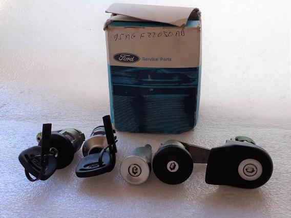 Jogo Cilindro Chaves Manual Original Ford Escort 97 Sedan
