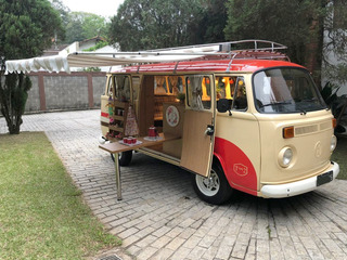 Vw Kombi T2 Antiga Camper Motorhome Corujinha Bege 1979