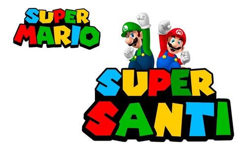 Logo Mario Bros Personalizado Para Imprimir Digital