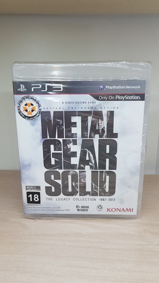Metal Gear Solid The Legacy Collection Ps3 Novo Lacrado Raro