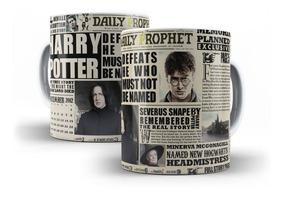 Caneca Harry Potter Jornal O Profeta Diário - Mega Oferta!!!