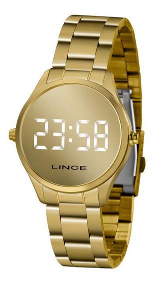 Relógio Lince Feminino Dourado Espelhado Mdg4617l