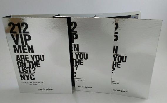 3amostras Perfume Importado 212 Vip Men 1,5ml Cada