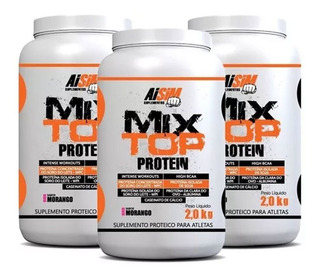 Combo 3 Whey Protein 2kg (total 6kg) Mix Top Proteico Aisim