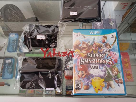 Kit Super Smash Bros 4 Wii U + Adaptador Game Cube Controle