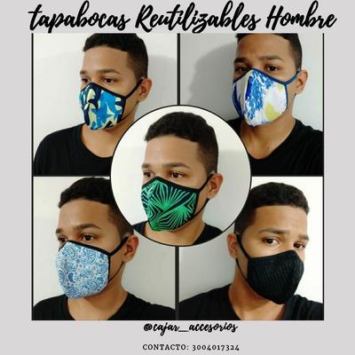 Tapabocas Antifluido Reutilizables