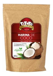 Harina De Coco X 250 Orgánica Libre De - kg a $48