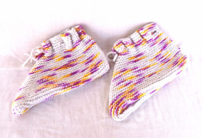 Pantufa Meia De Lã Para Adultos Veste 36 A 38 De Tricô