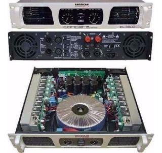 Potencia Amplificador Concert 3600 Tecshow