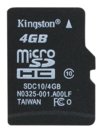Micro Sd Card - Kingston 4gb Classe 10