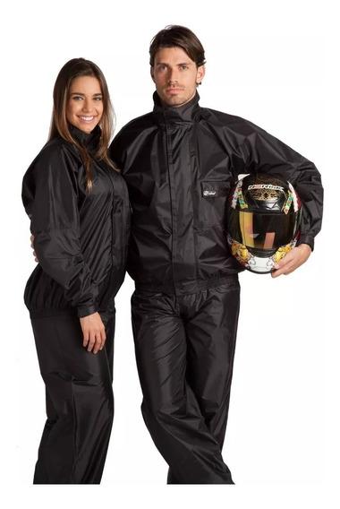 Conjunto Alba Nylon Capa Roupa D Chuva Moto 100% Impermeavel