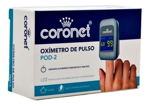 Imagen 1 de 6 de Oximetro Saturometro De Pulso Coronet - Adulto Y Pediatrico