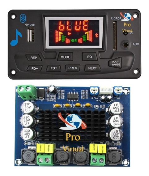 Combo Decodificador Bluetooth+amplificador Estéreo 2x120w