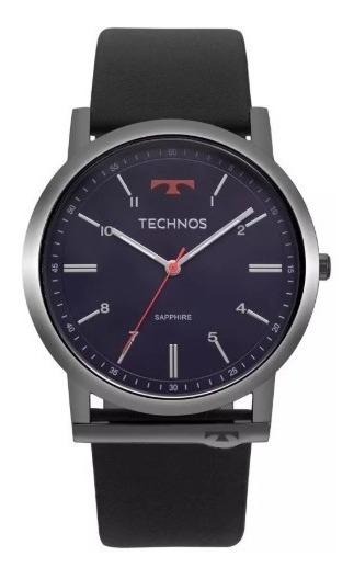 Relógio Technos Pulseira Em Couro Gl30fp/4a Slim Lançamento