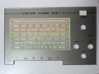 Radio 7 Mares Noblex Modelo Nt 119 Am Fm Vidrio Del Dial