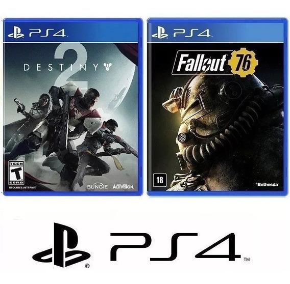 Fallout 76 + Destiny 2 - Midia Fisica Original Lacrado - Ps4