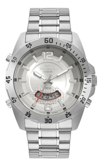 Relógio Technos Masc Aço Prata T205jk/1k Skydiver Lançamento