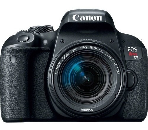 Câmera Canon Eos Rebel T7i Dslr Com 18-55mm Stm 12x S/juros
